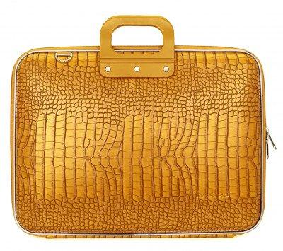 Bombata Bombata Croco Laptoptas 17 inch Saffron Yellow