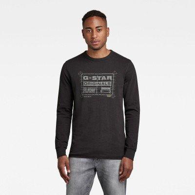 G-Star RAW Originals Blueprint T-Shirt - Zwart - Heren