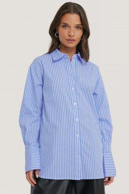 NA-KD Classic NA-KD Classic Oversized Shirt - Blue