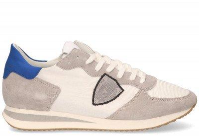 Philippe Model Philippe Model Tropez X Mondial Wit/Blauw Herensneakers