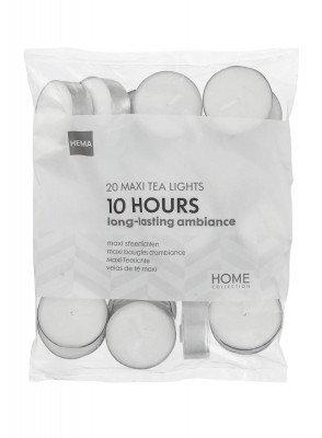 HEMA Waxinelichtjes - 10 Branduren - 20 Stuks