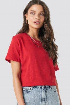 NA-KD Basic Basic Oversized T-Shirt - Red