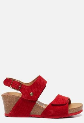 Panama Jack Panama Jack Vanessa Menorca B1 sandalen met sleehak rood