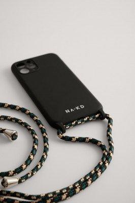 NA-KD Accessories NA-KD Accessories Cord Strap Phone Case - Black,Green
