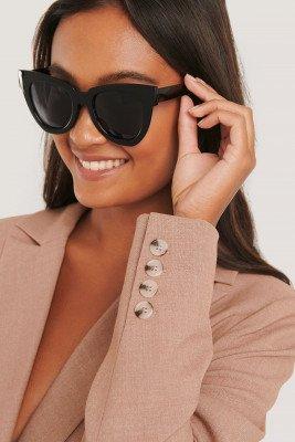 NA-KD Accessories NA-KD Accessories Oversize Chunky Cateye Sunglasses - Black