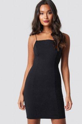 Dilara x NA-KD Dilara x NA-KD Thin Strap Bodycon Dress - Black