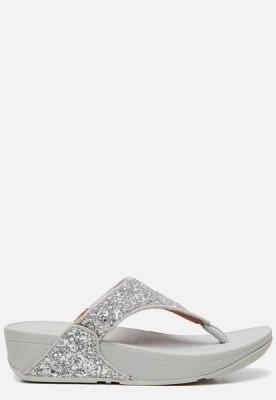 FitFlop FitFlop Lulu Glitter Toe Thongs slippers zilver