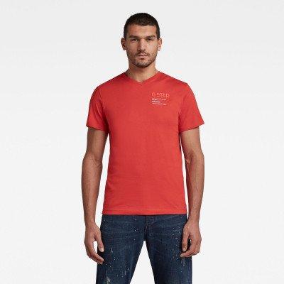 G-Star RAW G-Star Chest Graphic T-Shirt - Rood - Heren