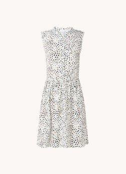 Aligne Aligne Dominique mini jurk met stippenprint en rugdecolleté