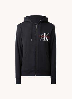 Calvin Klein Calvin Klein Sweatvest met steekzakken en logoprint
