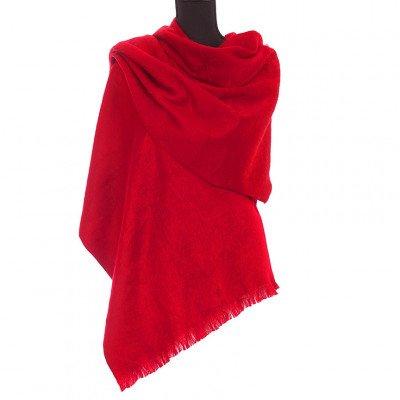 EcuaFina Alpaca sjaal of omslagdoek - Rood - EcuaFina - Tip2021