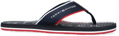 Tommy Hilfiger Blauwe Tommy Hilfiger Teenslippers Massage Footbed Th Beach