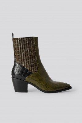 NA-KD Shoes NA-KD Shoes Spitse Western Laarzen - Green