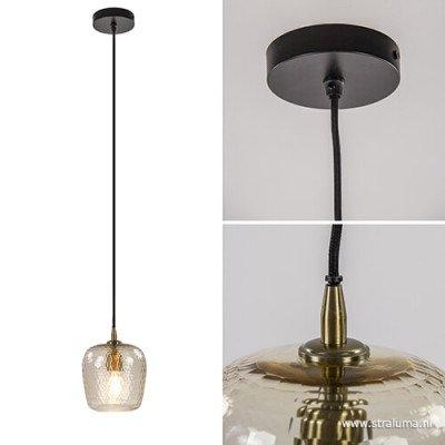 Light en Living Light & Living Hanglamp 'Danita' 17cm, glas antiek brons