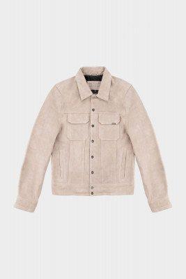 BALR. Suede Jacket Oatmeal
