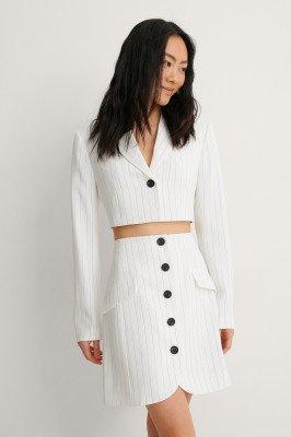NA-KD Trend NA-KD Trend Cropped Blazer - White