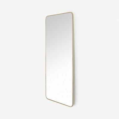 MADE.COM Alana extra grote staande spiegel, 80 x 180 cm, geborsteld messing