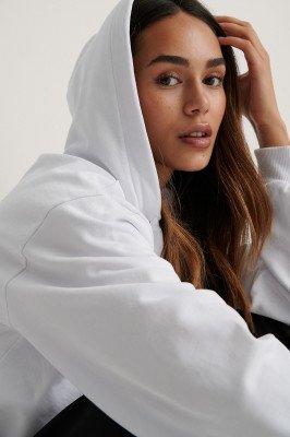 NA-KD Basic Basic Hoodie - White