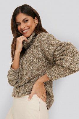 NA-KD Trend NA-KD Trend Melange Knitted Sweater - Beige