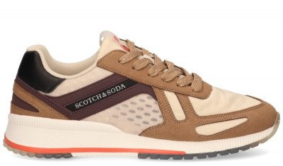 Scotch And Soda Scotch And Soda Vivex Bruin Herensneakers