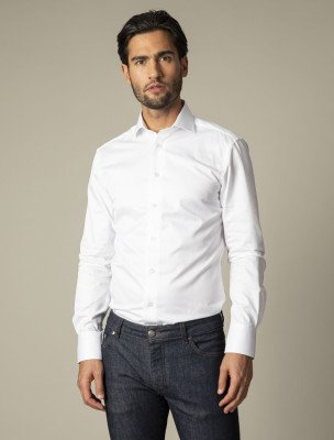 Cavallaro Napoli Cavallaro Napoli Heren Overhemd - NOS Bianco Overhemd - Wit