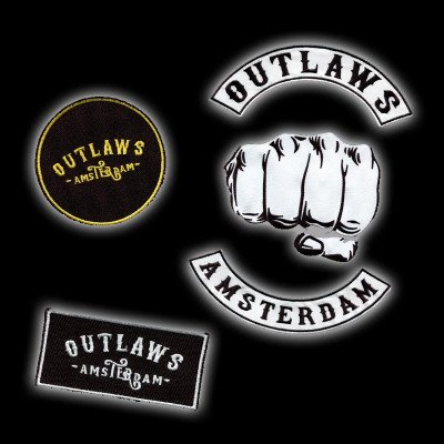 Outlaws Amsterdam NL PATCHES. - 5 PACK