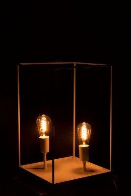 J-Line J-Line Rechthoekige Lamp 'Constantin' Large, 2-lamps, kleur Wit