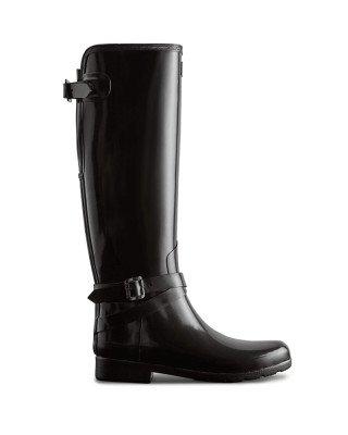 Hunter Boots Women's Refined Slim Fit Adjustable Tall Gloss Wellington Boots