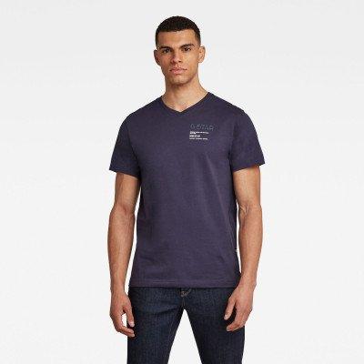 G-Star RAW G-Star Chest Graphic T-Shirt - Donkerblauw - Heren