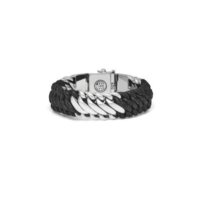 Buddha to Buddha Buddha to Buddha Armband Ben Mix Zilver Leer Zwart