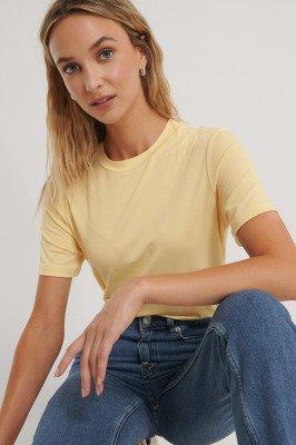 NA-KD Basic NA-KD Basic T-Shirt - Yellow