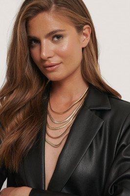 NA-KD Accessories Halsketting Met Meerdere Kettingen - Gold