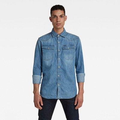 G-Star RAW 3301 Slim Shirt - Midden blauw - Heren