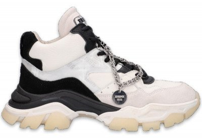 Bronx Bronx Tayke-Over Zwart/Off White Damessneakers