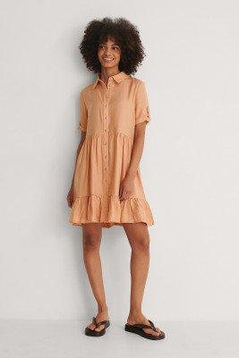 Trendyol Trendyol Knop Mini-jurk - Orange