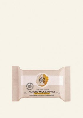 The Body Shop NL Almond Milk & Honey Soothing & Caring Cleansing Bar 100 G
