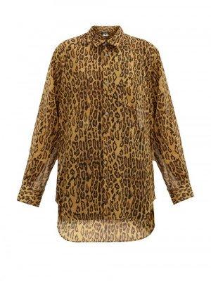 Matchesfashion Junya Watanabe - Leopard-print Gauze Shirt - Womens - Leopard