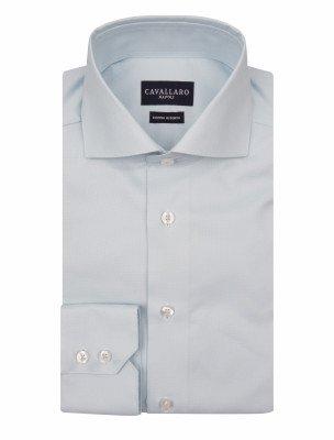 Cavallaro Napoli Cavallaro Napoli Heren Overhemd - NOS Oxford Overhemd - Licht Blauw