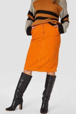 Kings of indigo Kings of Indigo - NEFERTITI skirt Women - Orange
