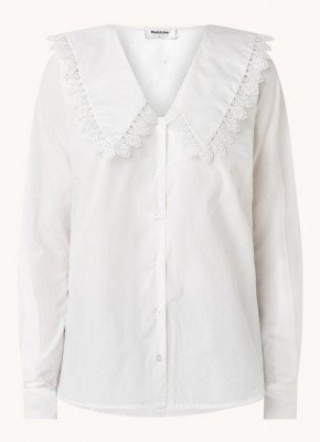 Modström Modström Hemera blouse met kant
