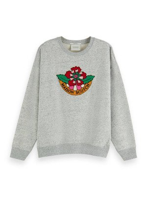 Maison Scotch Maison Scotch Crewneck sweat with badge