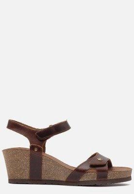 Panama Jack Panama Jack Julia Clay B1 sandalen met sleehak cognac