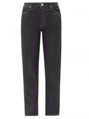Matchesfashion Jil Sander - High-rise Cropped Straight-leg Raw-denim Jeans - Womens - Denim