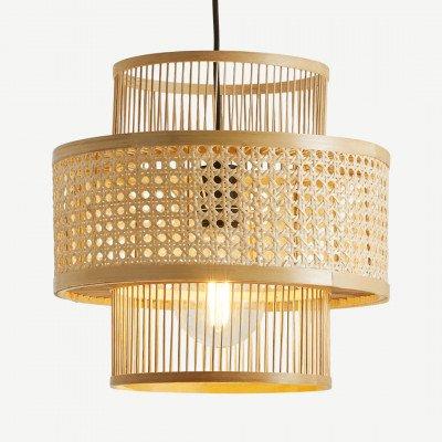 MADE.COM Yen grote hanglampenkap, bamboe