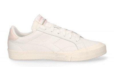 Diadora Sport Diadora Sport Melody Leather Dirty Wit/Roze Damessneakers