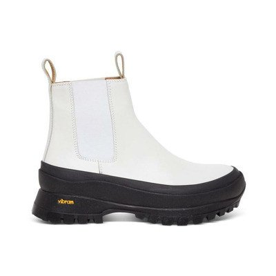 Jil Sander Chelasea Leather Ankle Boots with Vibram Sole