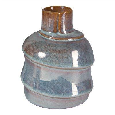 Firawonen.nl PTMD Moa blue glazed ceramic small bottle s
