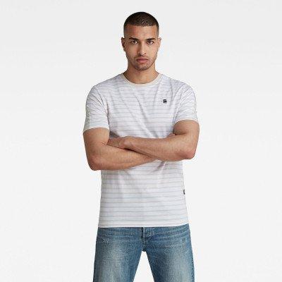 G-Star RAW Korpaz Stripe Graphic Slim T-Shirt - Wit - Heren