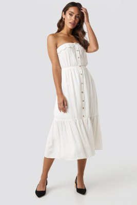 Trendyol Trendyol Carmen Button Midi Dress - White