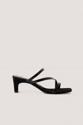 NA-KD Shoes NA-KD Shoes Vierkante Sandalen Met Bandjes - Black